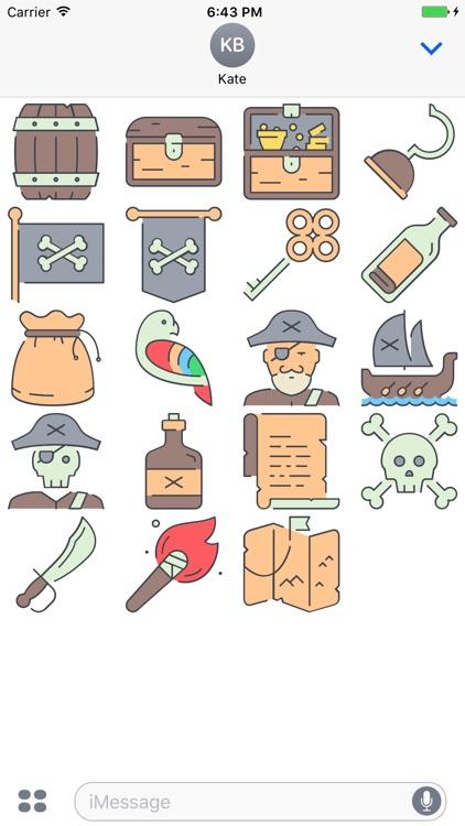 PiratesMoji - Marine Pirates Stickers
