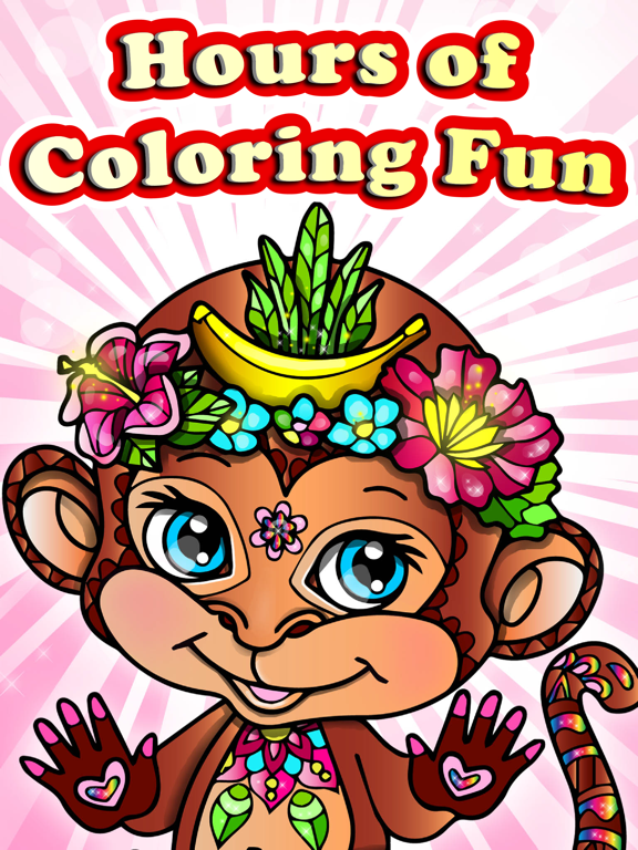 Instant digital download adult coloring page monkeys   Etsy   768x576
