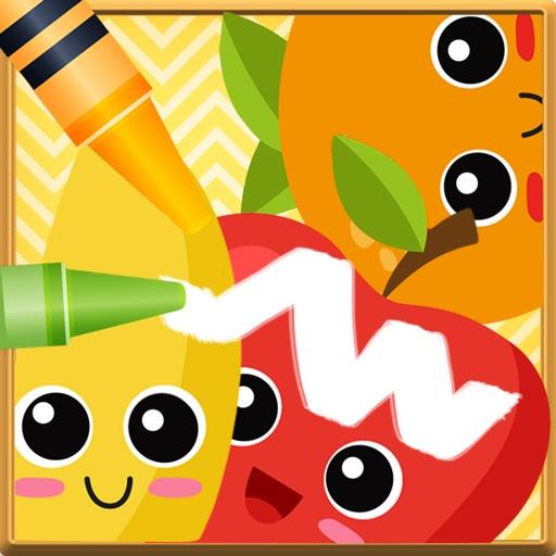 Fruit Vocab & Paint Game - The artstudio for kids