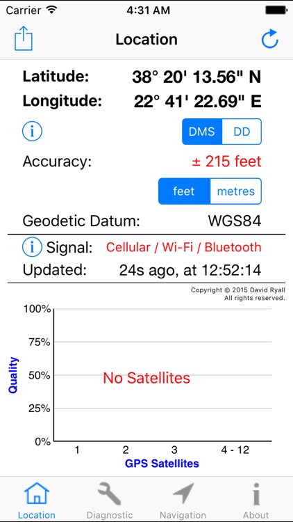GPS Diagnostic: Satellite Test screenshot-3