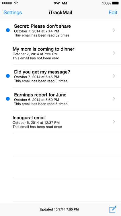 iTrackMail - Easy Email Tracking and Read Receipts