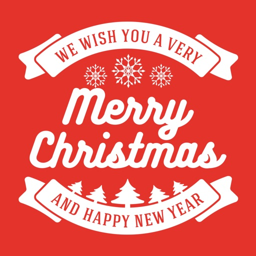 Merry Christmas Collage - Typography Captions iOS App