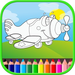 Airplane Coloring Book For Kids and Toddlers Free