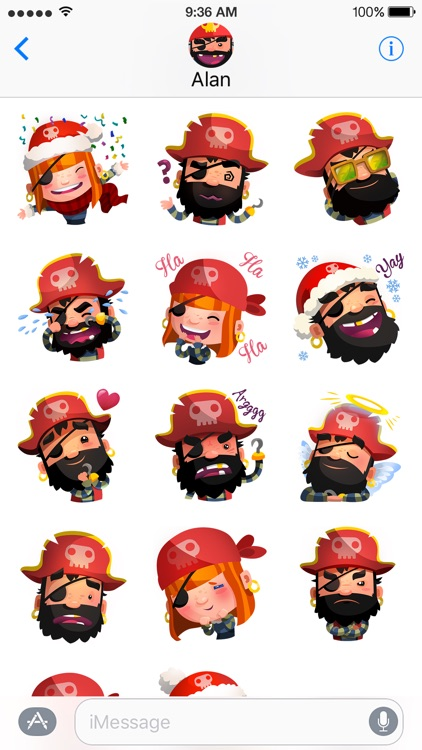 Pirate Kings Animated Stickers for Apple iMessage screenshot-3