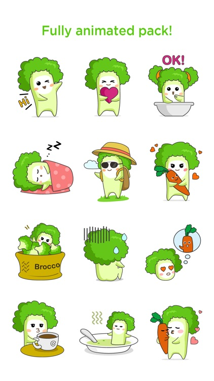 Broccoli Boo - Animated stickers