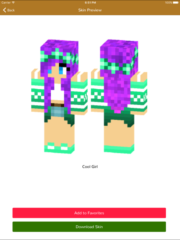 Girl Skins For Minecraft Pocket Edition Mcpe Skins By Ankit Mistri Ios United States Searchman App Data Information