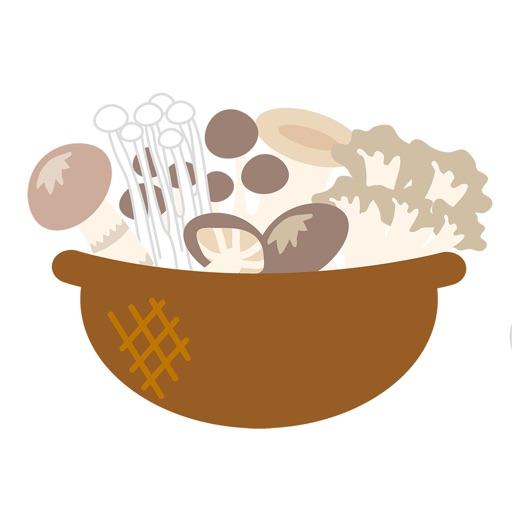 人食慾蘑菇貼紙