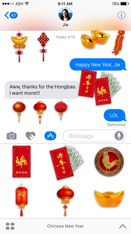 Chinese New Years Stickers