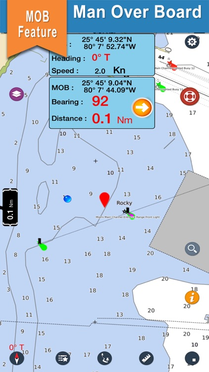 Mississippi offline nautical gps chart for boating screenshot-3
