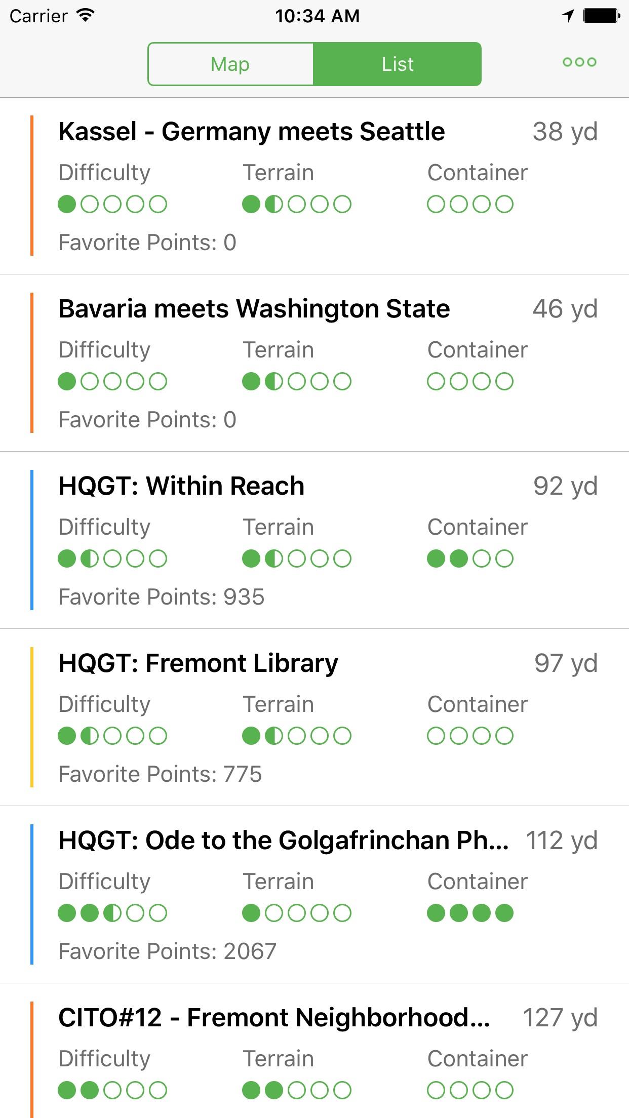 Cachebot Geocaching Screenshot