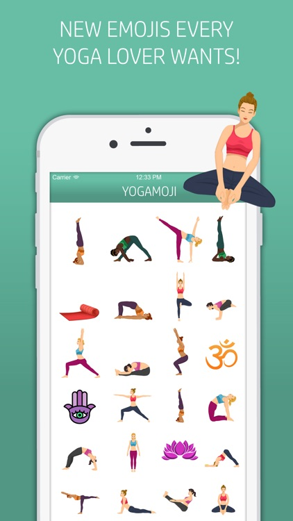 Yogamoji: Blissed out emojis & stickers for yogis