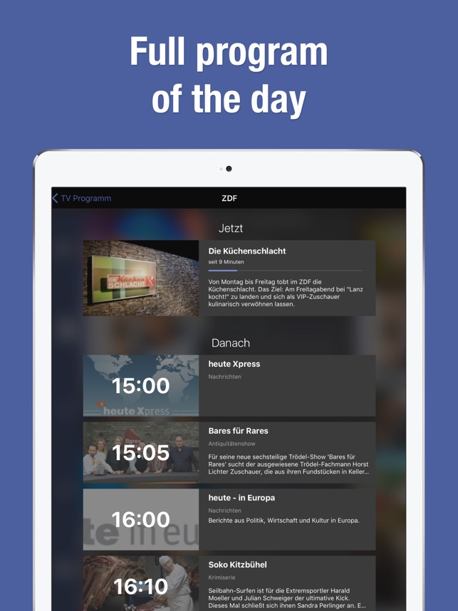 Tv Guide Tv Schedule Tv De On The App Store