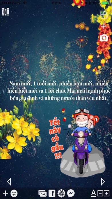 Làm thiệp Tết Xuân Đinh Dậu - Chụp hình Sticker screenshot one