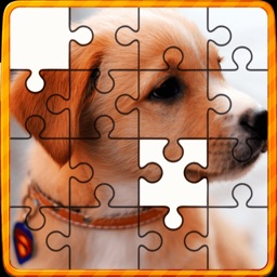 Animal Jigsaw Puzzles : puppy & cat puzzles