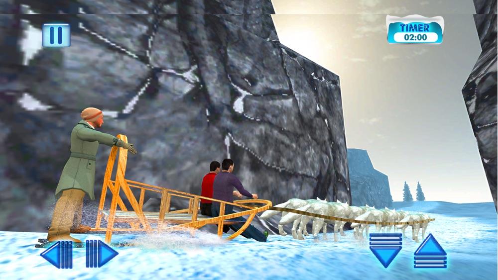 Uphill Dog Sledding Transport & Cargo Delivery Sim App for