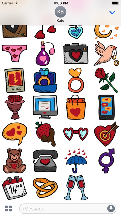 Dating Stickers -Valentine's Day 2017 For Messages screenshot-4