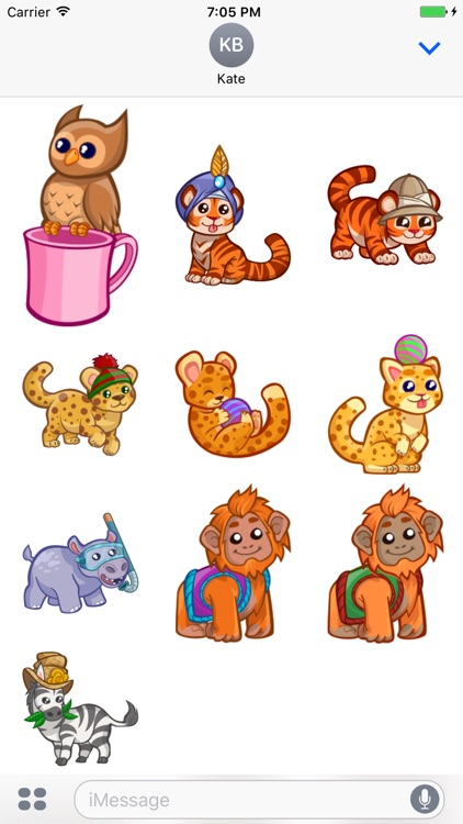 Cute Baby Animal Stickers for iMessage screenshot-4