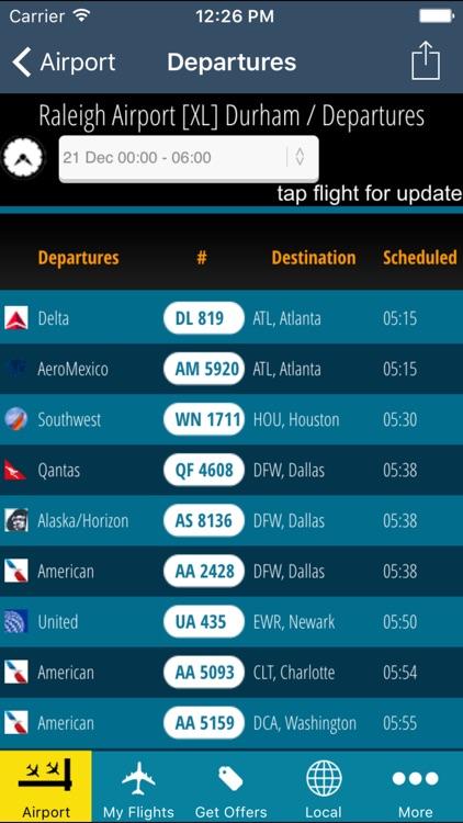 Raleigh Airport Pro (RDU) + Flight Tracker