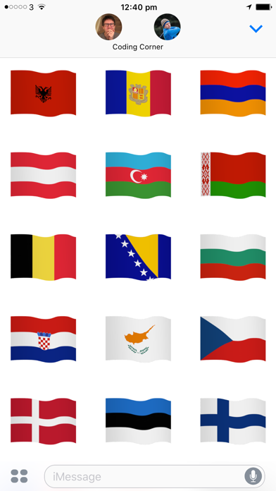 点击获取Euro Flags - Animated European flags stickers