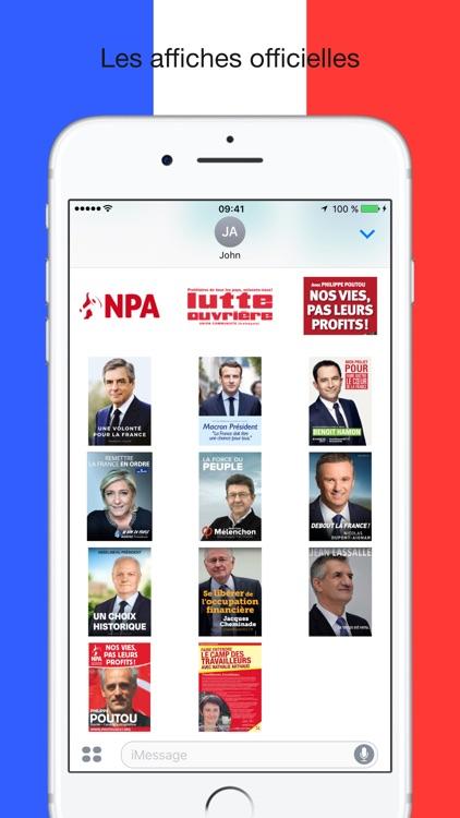 Présidentielle 2017 - Stickers screenshot-4