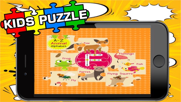 ABC ZOO Alphabet Jigsaw Puzzle Kids Games Learning screenshot-1