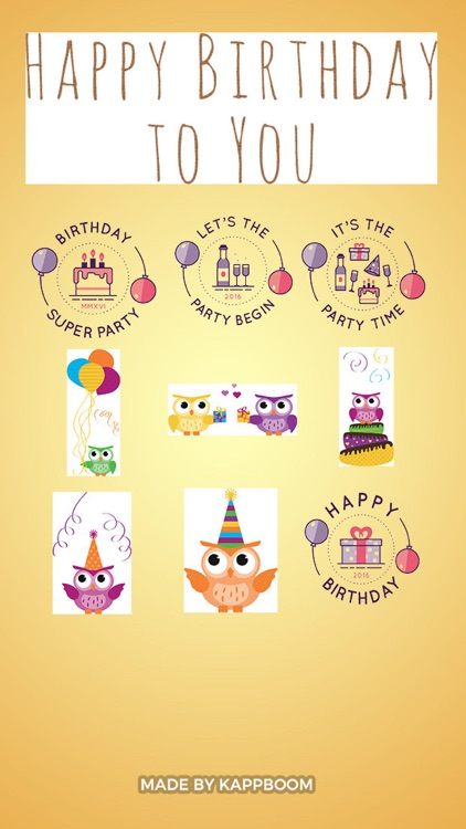 Birthday Party Stickers by Kappboom