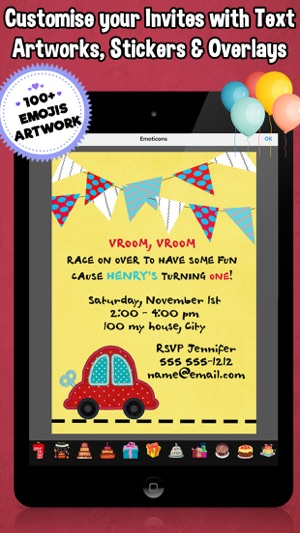 Happy birthday invitations for kids party on the app store happy birthday invitations for kids party on the app store stopboris Gallery