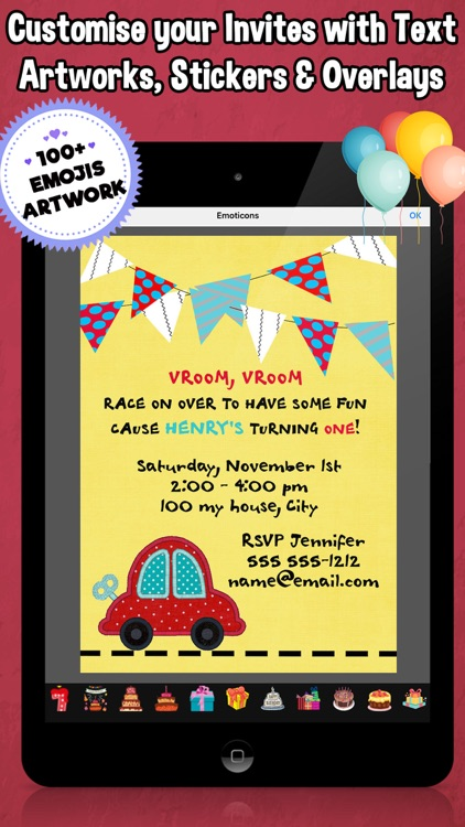 Happy Birthday Invitations For Kids Party Screenshot 2