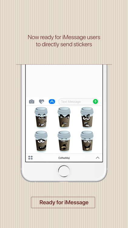 CoffeeMoji - coffee stickers & emoji for iMessage screenshot-3