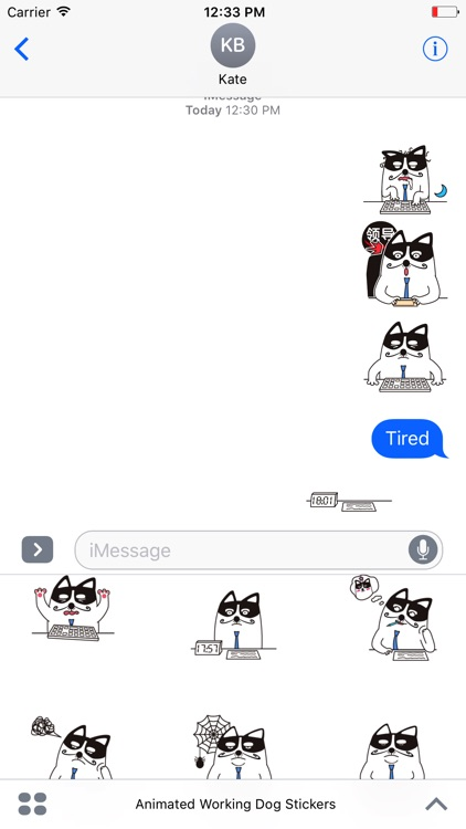 Animated Working Dog Stickers For iMessage screenshot-4