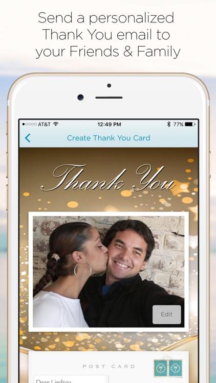 HoneymoonWishes Honeymoon & Wedding Registry screenshot-3
