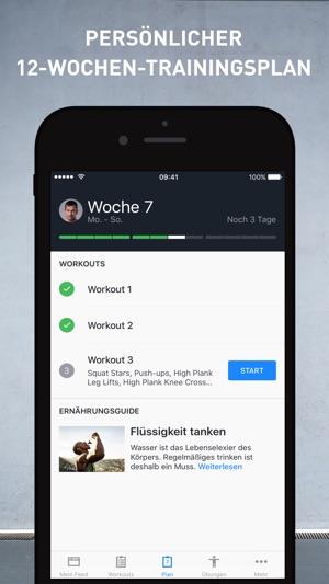 Runtastic Results Fitness App Screenshot