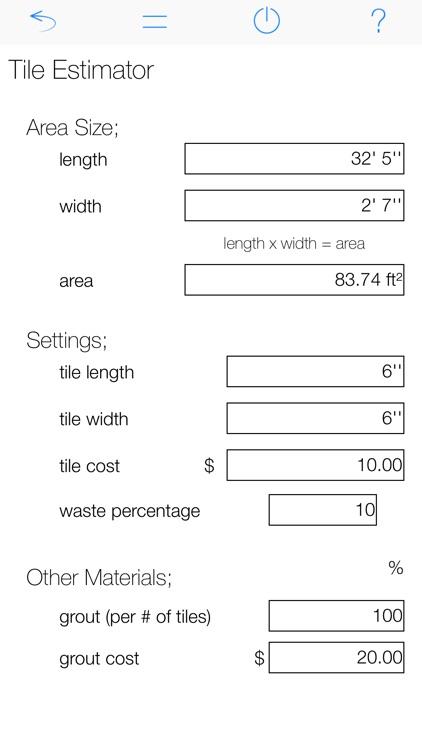 Tile Calculator Pro screenshot-3