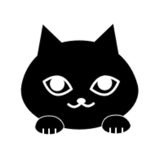 Blackcat Moji Kawaii emoji by Tomoko Hashiguchi