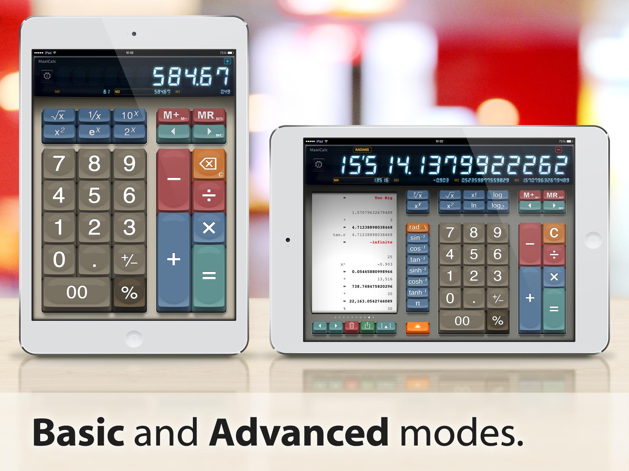MaxiCalc Pro: Big Retro LCD Paper Tape Calculator screenshot-0