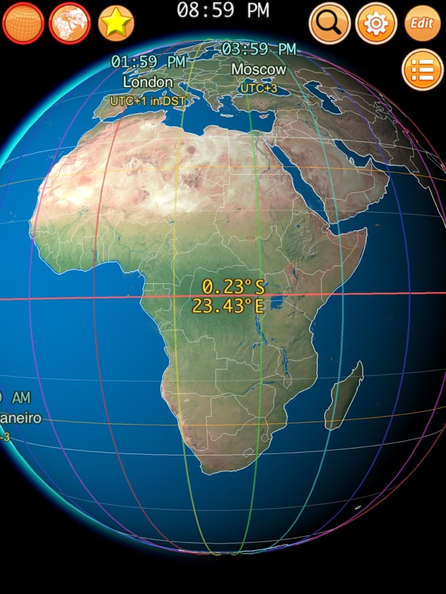 Clocks of Cities on Terra on