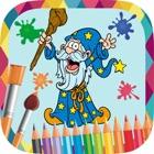仙女和美人鱼画-着色书 icon