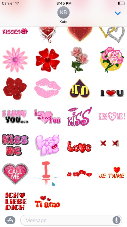 Animated Love Stickers Pack
