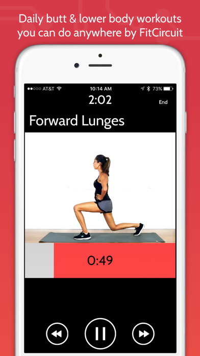 Daily Butt & Leg Workouts by FitCircuit