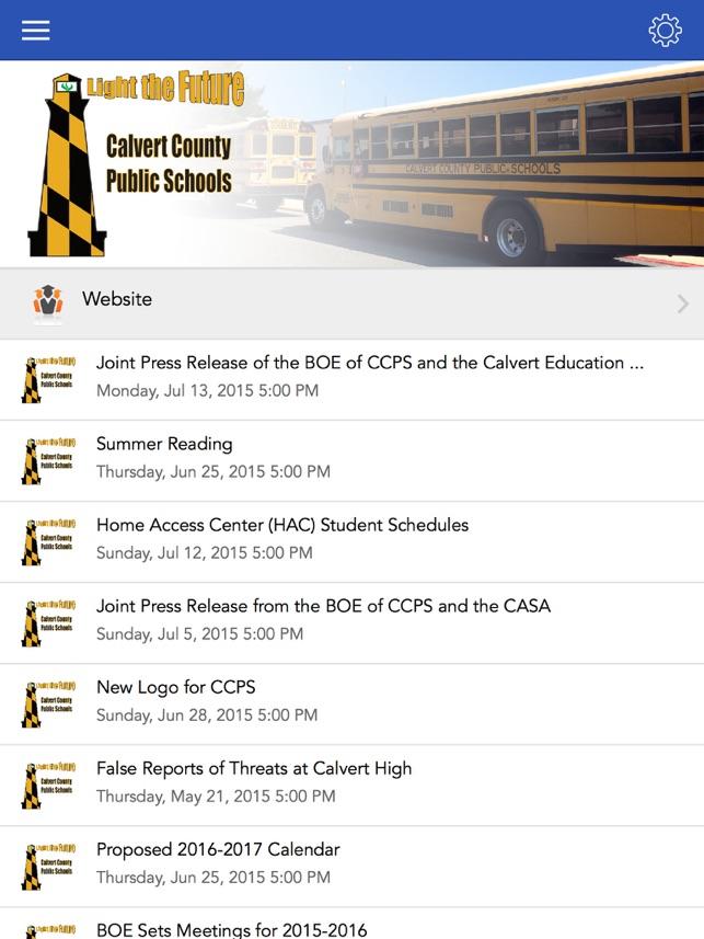 Calvert County Public Schools On The