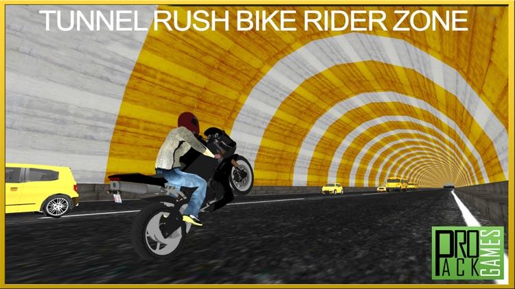 Tunnel Rush Motor Bike Rider Wrong Way Dander Zone