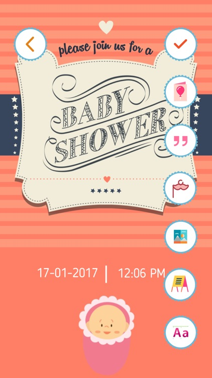 Baby Shower Invitation Cards Maker HD Pro screenshot-4