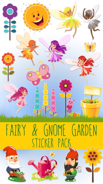 Fairy and Gnome Garden Sticker Pack