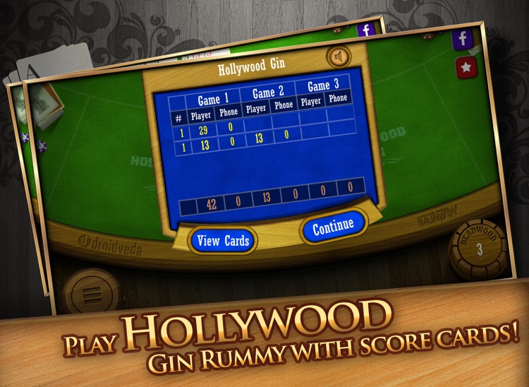 Gin Rummy HD Free! screenshot-3