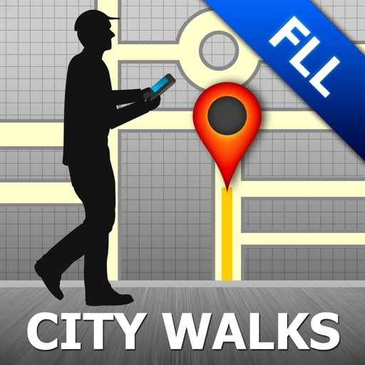Fort Lauderdale Map and Walks, Full Version
