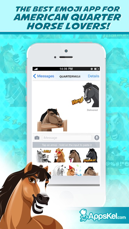 Quartermoji: American Quarter Horse Emoji Stickers screenshot-0