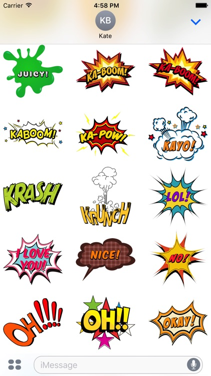 Comic Stickers #1-Pop Art for iMessage