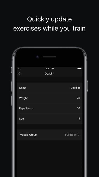 Trainer Weight Lifting Tracker screenshot-4