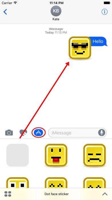 Dot face sticker