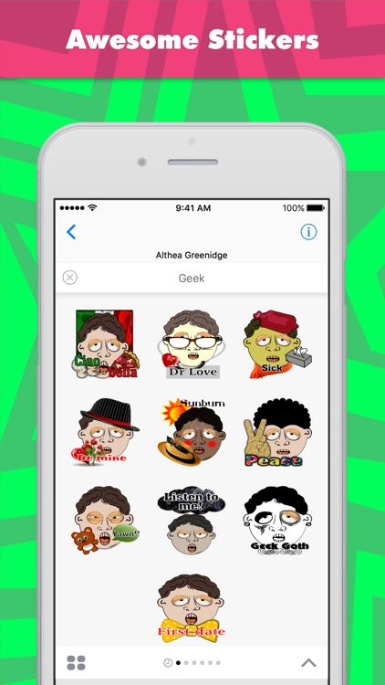 Geek stickers by Alade Expressions